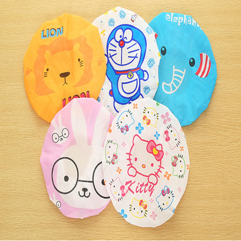 Hot Sale Cute Women/Girls Waterproof Shower Cap For Spa Household Cleaning Cooking 2016 New(China (Mainland))