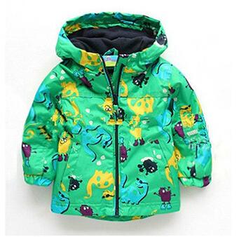 Гаджет  2015 New Fashion Children Outerwear Clothing Boys Girls Dinosaur Cartoon Rain Coat Baby Kids Child Sports Clothes Jackets Coats None Детские товары