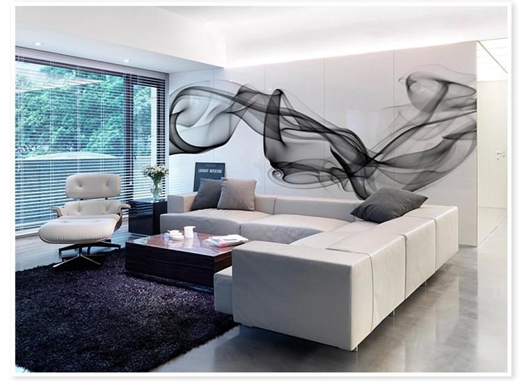 Buy smoke fog photo wallpaper modern wall for Mural room white house