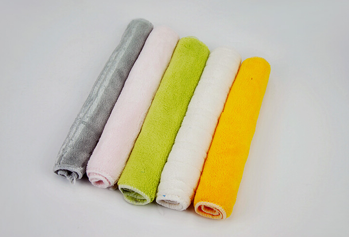 5pcs 27*26 cm Bamboo Charcoal Microfiber Hair Face Towel Quick Drying Washcloth Towels Bathroom For Adults Car House Cleaning(China (Mainland))