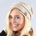 Stylish Trendy Warm Chunky Gorro Soft Stretchy Ribbed Cable Knit Slouchy Beanies Skully Comfortable Winter Caps