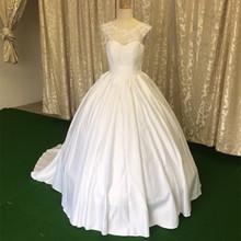 Robe De Mariage Cheap Ball Gown Wedding Dress Under 100 A Line Scoop Bridal Dresses Lace Vestidos De Noiva Wedding Dress 2016(China (Mainland))