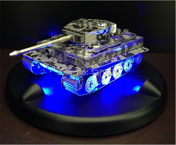 3D puzzle tanks DIY toys build metal 3D models puzzle Building mode toys + LED base for childern,shipping within 24 hours(China (Mainland))