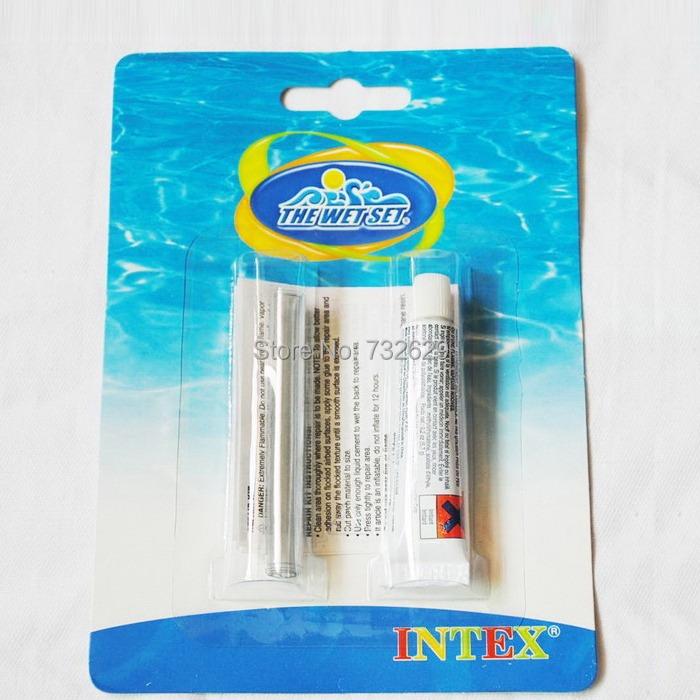 piscina inflavel 5pcs/lot Hot Sale New Vinyl Repair Patch Glue Kit Pool Airbed Inflatable Intex pool Sevylor(China (Mainland))