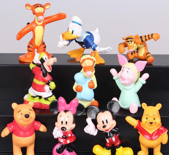 Cute Mickey Minnie Mouse Donald Duck Goofy Mini PVC Action Figures Model Toys 10 Pcs/Set(China (Mainland))