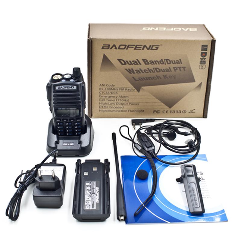 BAOFENG New Dual Band UV-82 Amateur Handheld Two Way Radio UV 82 UHF/VHF 128 Channels FM Ham walkie talkie Transceiver Earpiece(China (Mainland))