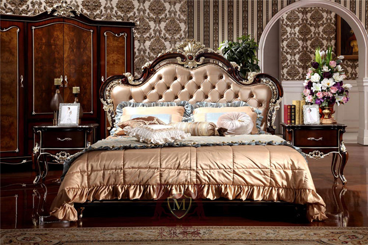 luxury classic italian style furniture new classic bedroom furniture bedroom furniture set(China (Mainland))