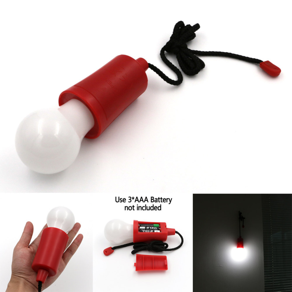 High Brightness Portable Applicable Outdoor Lighting Camping Tent Fishing Lamp With On/Off Rope Switch,Garden Light(China (Mainland))