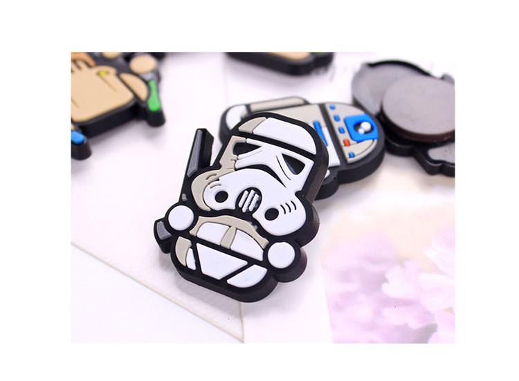 Fresh Goods Cartoon Star Wars Fridge Magnets Cute Vader Yoda Decorative Refrigerator Souvenir Magnetic Sticker A075