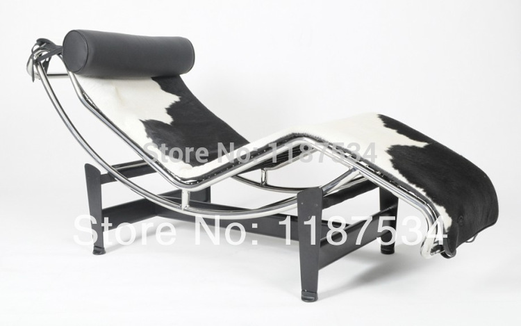 Le Corbusier LC4 Chaise Lounge leather lounge sofa(China (Mainland))