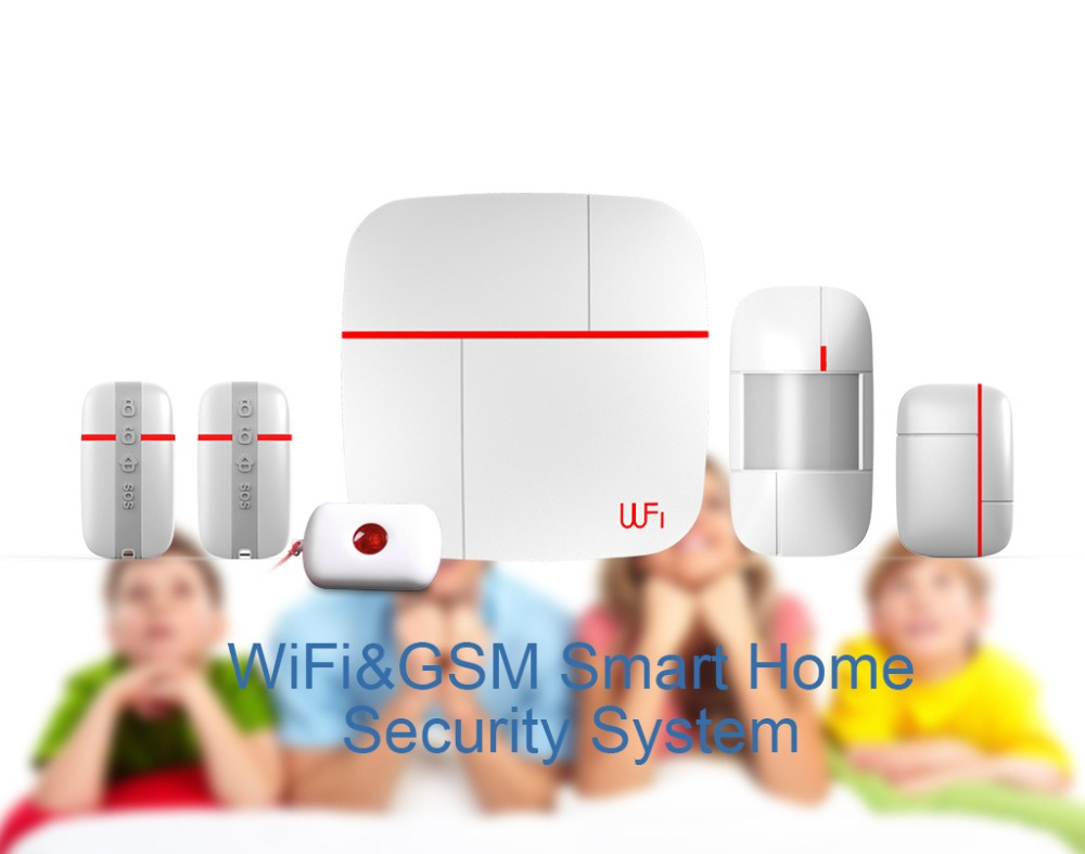 Hot 433mhz WIFI+3G smart home dual network security alarm system Vcare Kits A Android&IOS App operation One-key SOS alarm(China (Mainland))