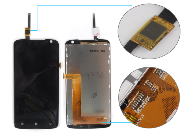 wholesale new product display For Lenovo s820 LCD Display Digitizer Touch Screen Complete 100pcs Free Shipping DHL