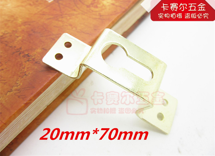 20pcs wall picture hangers photo hanging metal golden picture hook photo frame furniture accessories(China (Mainland))