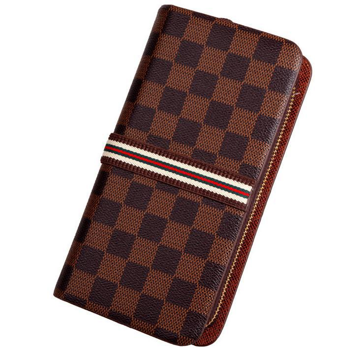 Top Grade 2015 hot selling mens England Style plaid double zipper luxury classical vintage clutch PU leather designer wallets 5<br><br>Aliexpress