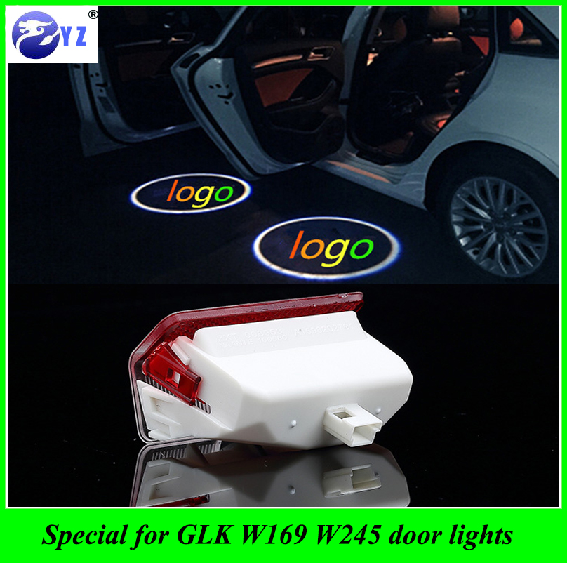 Mercedes door lights 2pcs laser led door shadow for Mercedes benz door lights