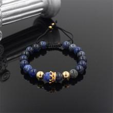 Buy Anil Arjandas Fashion Men Bead Bracelet,Pave Setting Black CZ Crown Weave Braiding Men Macrame Bracelet RB2863 for $2.51 in AliExpress store