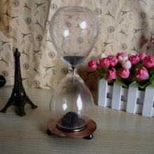 1pcs Awaglass Hand-blown Timer Clock Magnetic Hourglass Ampulheta Crafts Sand Clock Hourglass Timer Christmas Gift YXT8012(China (Mainland))