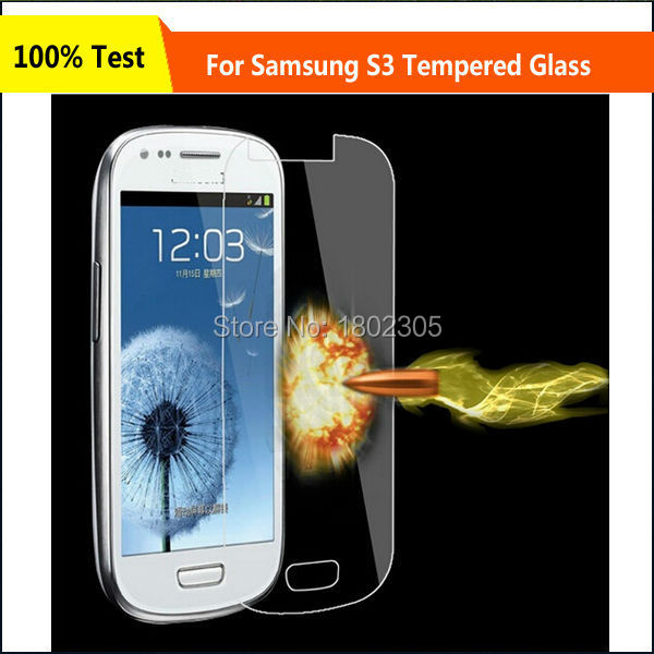 Ultra Thin Premium 0.26mm 2.5D 9H Tempered Glass Screen Protector Film For Samsung Galaxy S3 i9300,Free Shipping(China (Mainland))