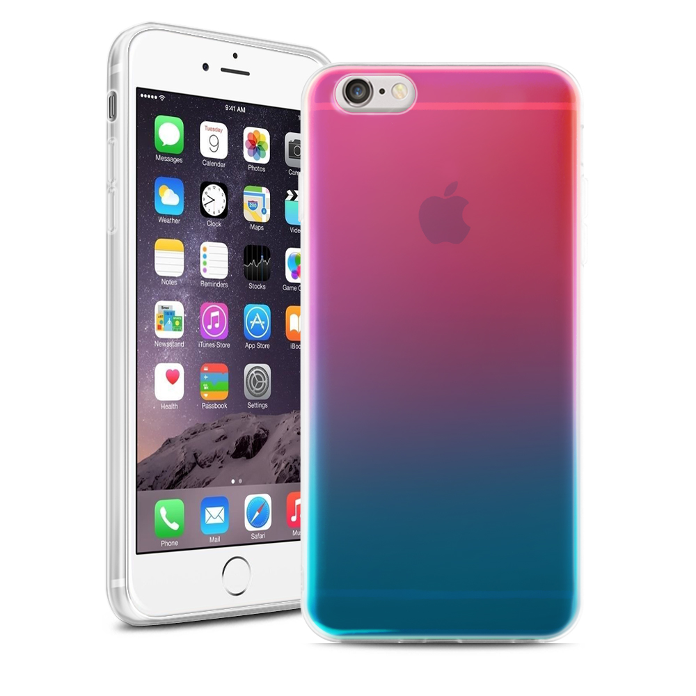 360 Drop Full Protection Anti Knock Scratch Gradient Transparent Soft TPU Case Cover for iPhone 6s Plus/6s(China (Mainland))