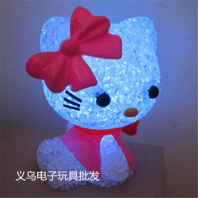 led colorful lights decorative lamps cute hello Kitty doll toy cartoon night light for children , baby , Kids free shipping(China (Mainland))