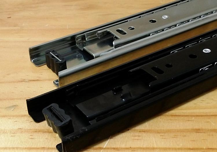 Mute three drawer slide rail track three ball slide three rail thicker width 45<br><br>Aliexpress