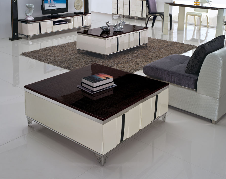 modern home furniture living room furniture marble top tea table coffee table stainless steel table C324-1(China (Mainland))
