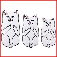 2015 New ripndipp 3D cartoon Pocket Cat rock cute white corna cat soft silicone case iphone 4 4S/5C 5s/6s/ 6plus 6s plus - xinynagxiaodian store