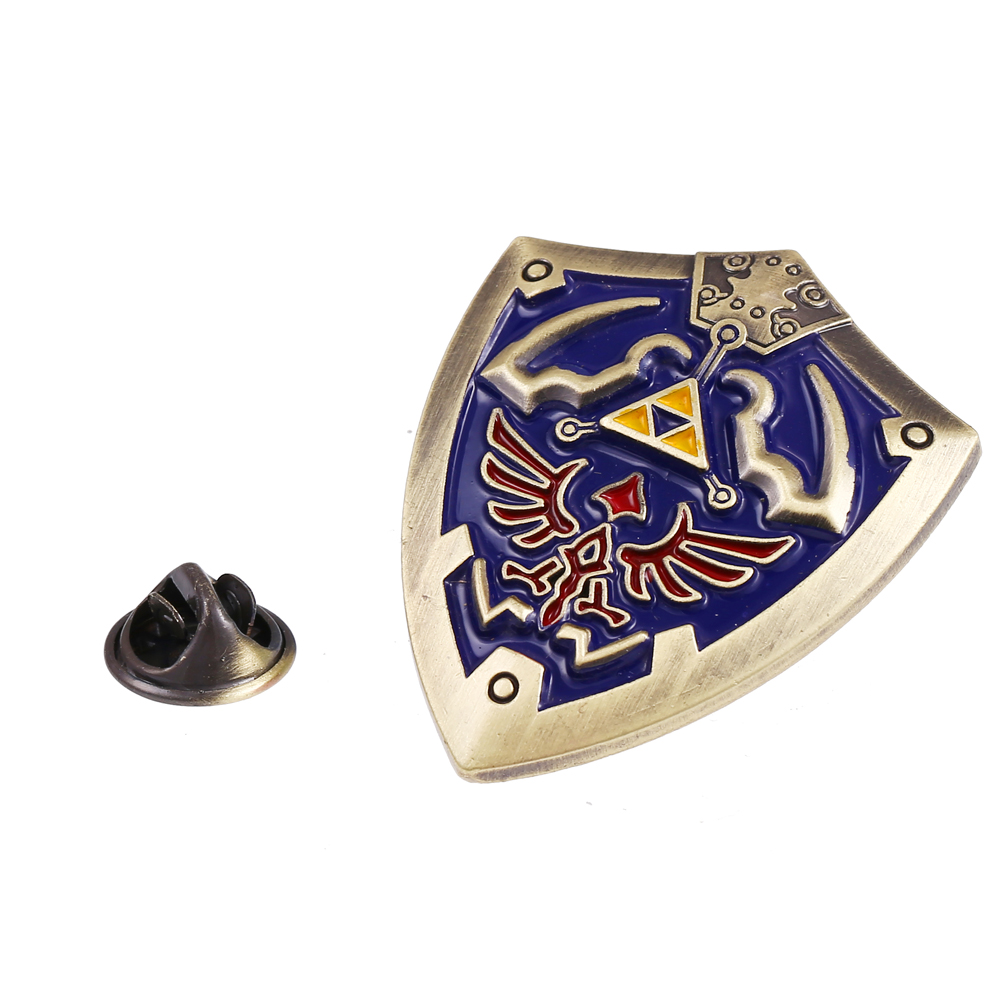 Online Game Legend of Zelda Jewelry Brooches Men Clothing Accessories Zelda Brooches Alloy Fashion Novelty Accessories Gadgets(China (Mainland))