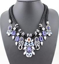 2014 New Fashion Gorgeous Brand Rhinestone Necklace Choker Statement Necklaces & Pendants Design Pendant  Women Jewelry(China (Mainland))