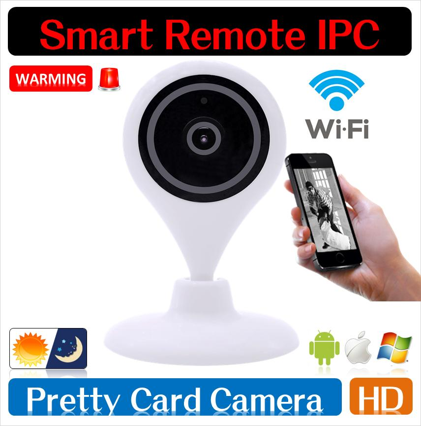 FREE SHIPPING 720P HD IP Camera WiFi Wireless TF Card Storage night vision Network Security CCTV Family Defender H.264 P2P(China (Mainland))