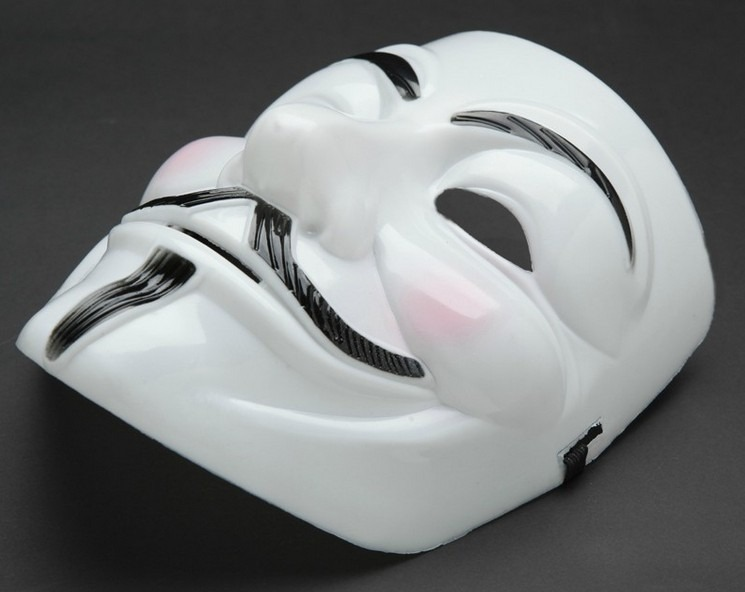 Anonymous Film Mask NEW V for Vendetta Guy Fawkes Halloween Fancy Face Cosplay(China (Mainland))
