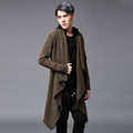 2016Men s clothing Outerwear trench male medium long cloak cape outerwear loose personality outerwear maleThe singer