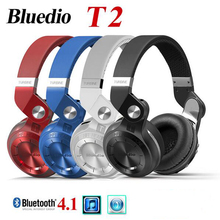 Original Fashion Bluedio T2 Turbo Bluetooth 4.1 Stereo Headphones Headset Mic High Bass Quality fone de ouvido N2 - Life-Better store