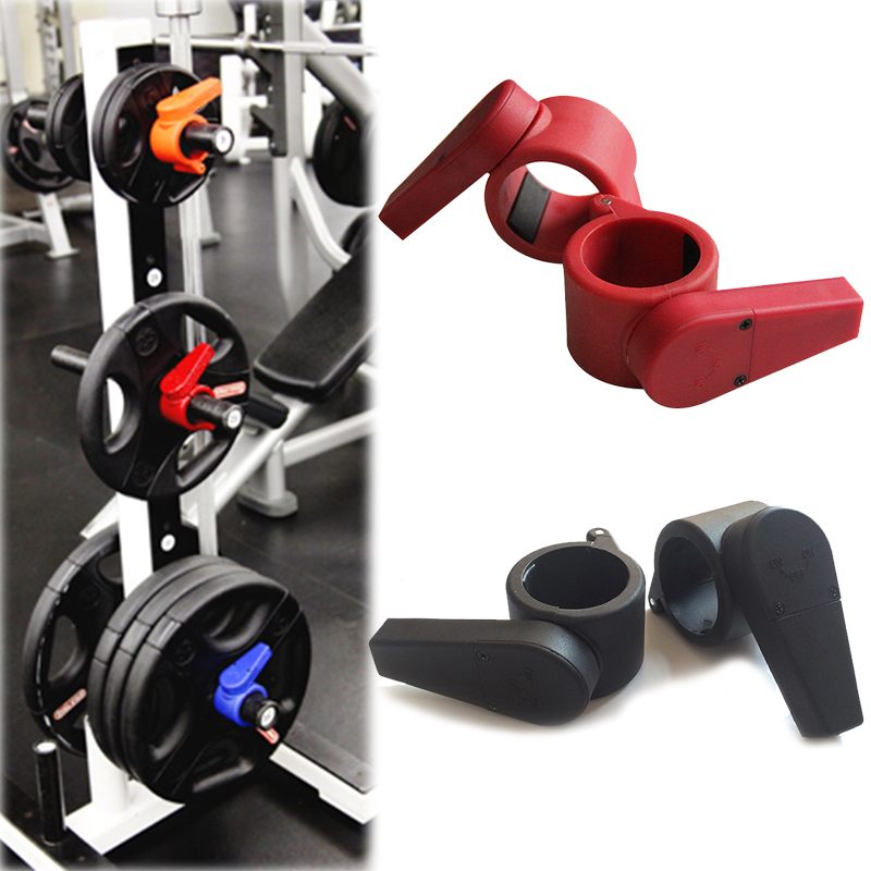 New Arrival 50mm Olympic Barbell Lock Jaw Collars Weight Lifting Easy Lock Collar / Clamp Barbell Collars barbell collars