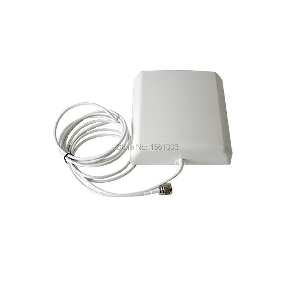 High gain 9dBi Indoor directional panel antenna with 5m cable for signal repeater booster for Cell Phone Amplifier  805-2500MHz