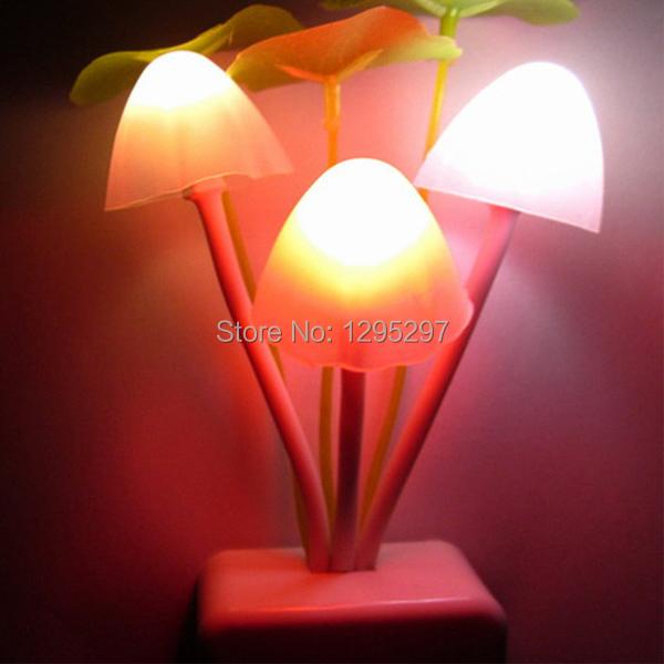 1PCS LED Mushroom Auto Sensor Color Change Night Lamp Light Home Decor Romantic EU Plug FH2h4<br><br>Aliexpress