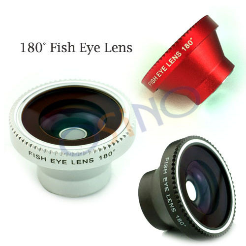 180 Angle Detachable Fish Eye Lens for iPhone Mobile Digital Camera Free Shipping 4 Colors:Black/White/