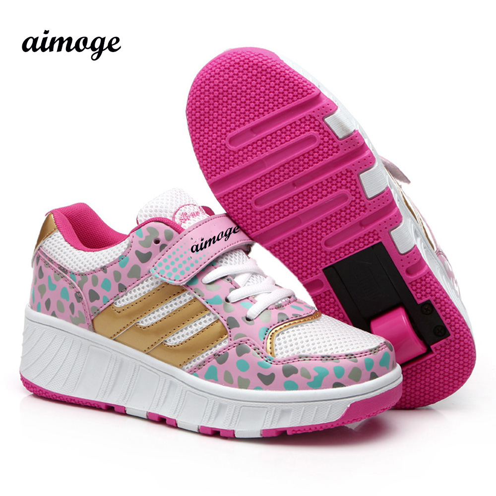 Children shoe Shoes Kids Roller Sneakers Wheels Anti-skid Wear-resistant Boys Girl shoes Zapatillas Con Ruedas - Your Brand Style store