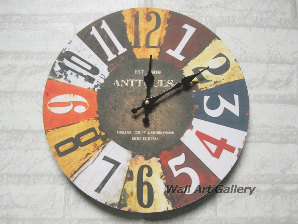 Buy vintage wall clock for home decor - Vintage inspired wall art ...