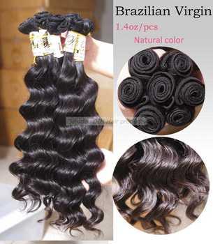 "EUB Free Shipping!! 12""-28"" Deep wave 100% virgin Brazilian  hair 40g=1.4oz/pc 1pc/lot  same direction DIH0001"