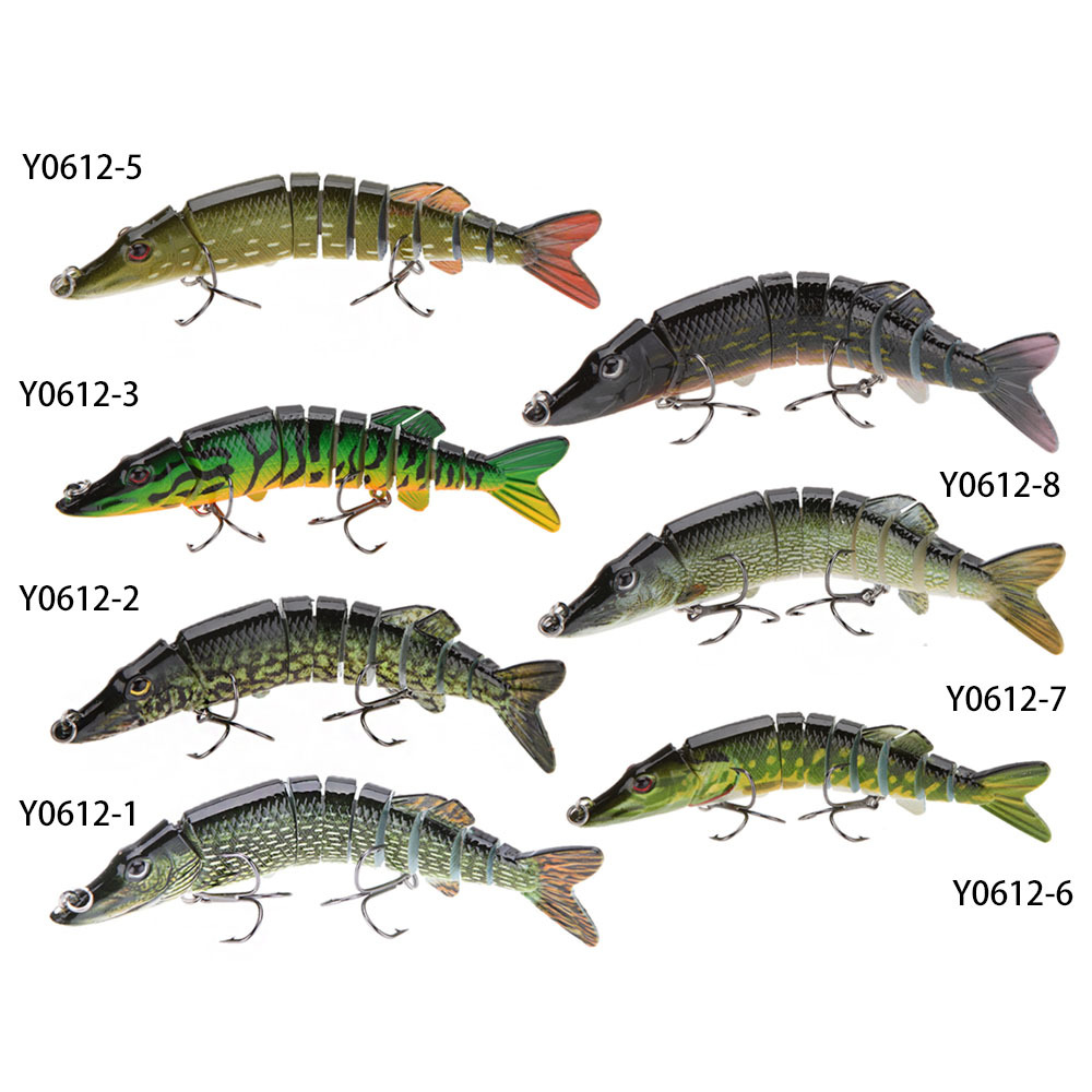 Lixada 5 20g 9 segement isca artificial pike lure for Pike fishing lures