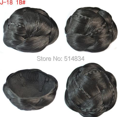 Braided Hair Bun Piece Buns Braid Hair Pieces