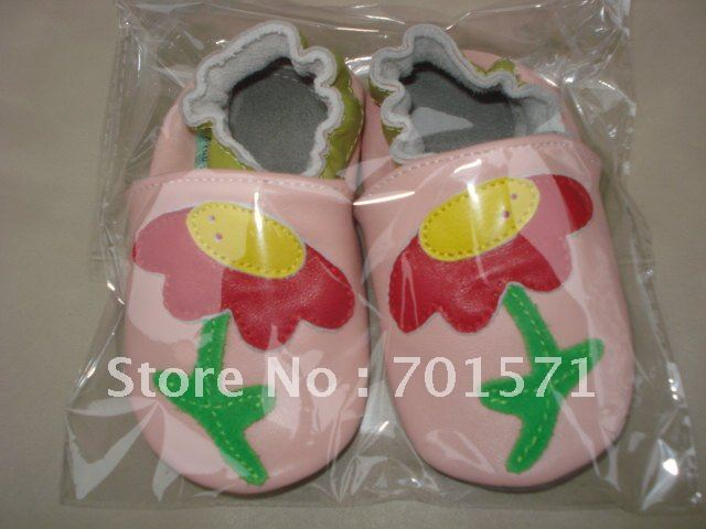 Guaranteed 100% soft soled Genuine Leather baby shoes1011<br><br>Aliexpress