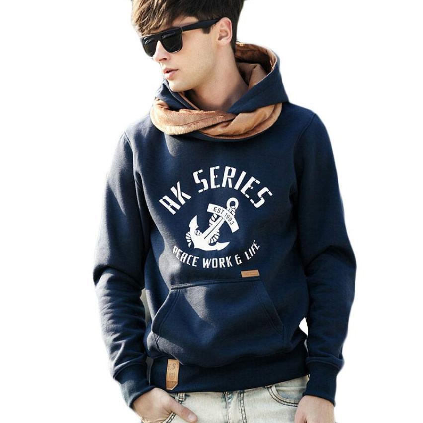 Jimshop 5 Colors Brand Autumn Winter Male Sports Hoodies Sweatshirt Men Casual Thick Cotton Hooded Coats Size XXXL
