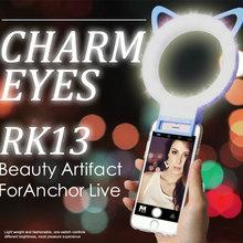Buy Cat Ear LED Selfie Flash Luminous Fill Light Ring Clip-On LED fill light Mobile Smart Phone for $8.16 in AliExpress store