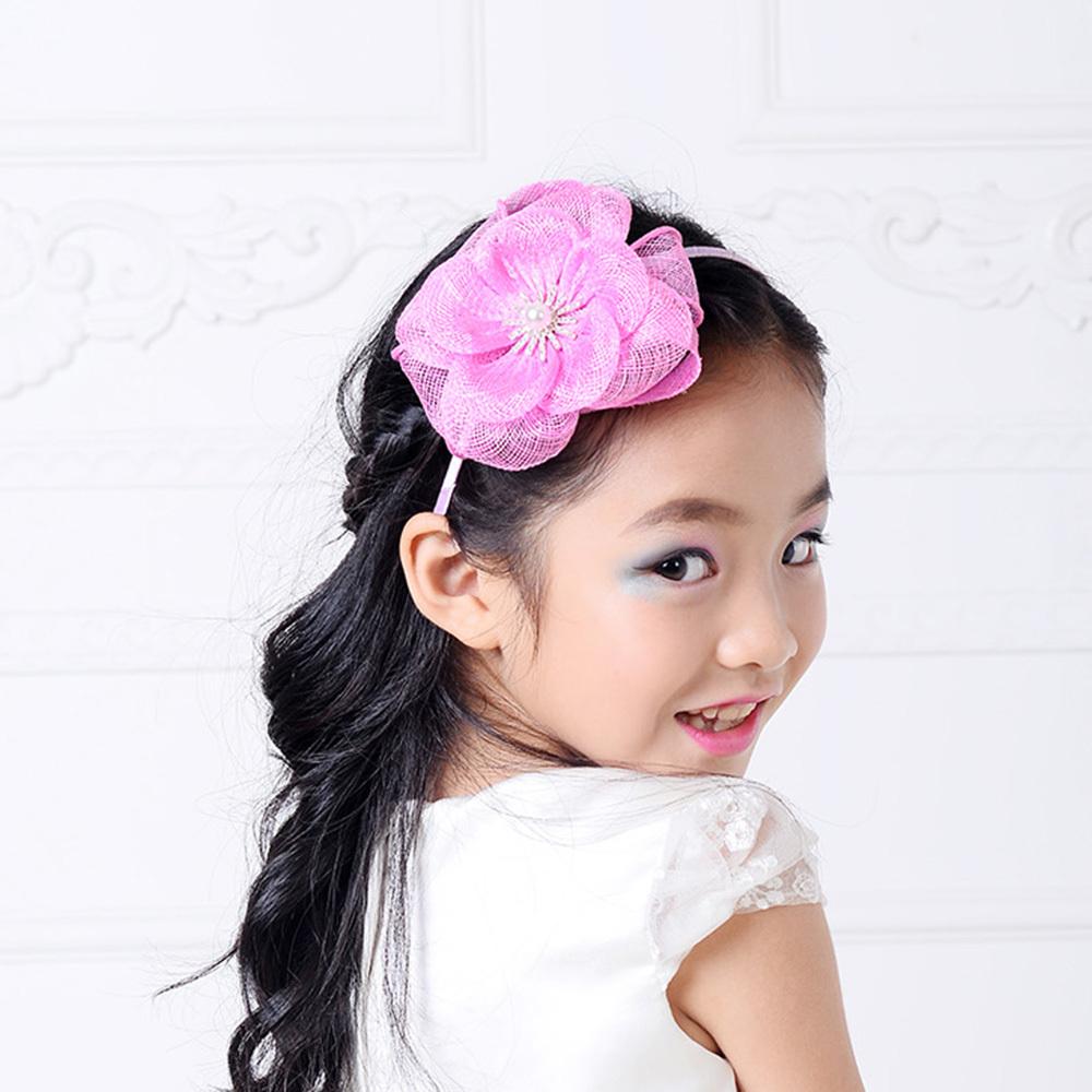 2015 new baby girl wedding party handmade sinamay 100% floral fascinator Hair acessories kids flower Headdress with headband(China (Mainland))
