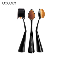 Docolor oval foundation brush with Lid 1pcs Oval Toothbrush  shaped make up Brush Foundation travel brush Free shipping(China (Mainland))