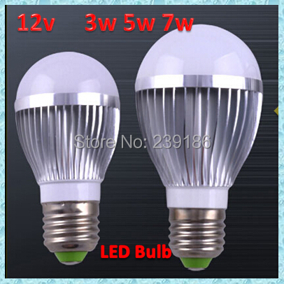 12V 3W 5W 7W High brightness LED Bulb Lamp E27 Cold white / warm white 300-700LM led lamp<br><br>Aliexpress