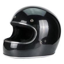 Fibra de vidro rosto cheio capacete do vintage jet capacete da motocicleta de corrida motocross moto casco capacete retro dot ece a1(China)