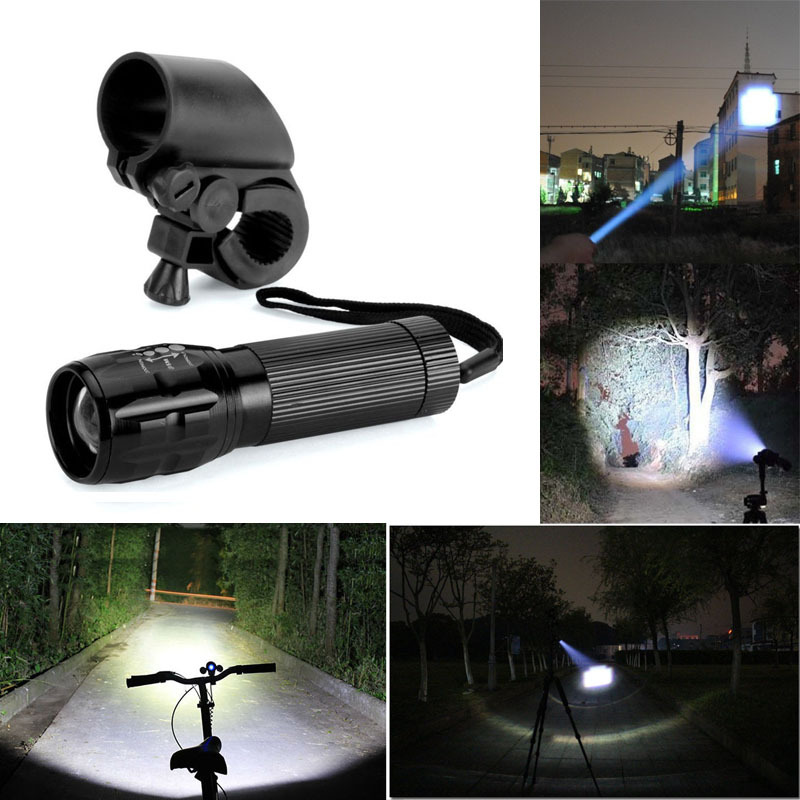High Quality Mini Q5 zoom flashlight strong lumens LED Cycling Bike Bicycle Front Head Light luz led bicicleta bike light(China (Mainland))